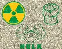 Incredible Hulk Logo / Symbol / Fist Avengers Costume Badge Iron On Vinyl Decal Cutting Files in Svg, Eps, Dxf, Jpeg for Cricut & Silhouette