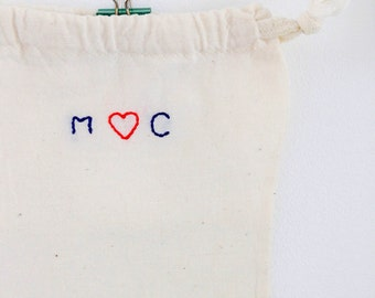 Personalized cotton pouch