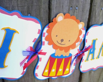 Circus Highchair Banner, Circus First Birthday, Circus Birthday Decorations, Circus Banner, Carnival Decorations, Carnival Banner