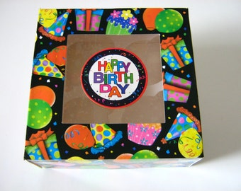 3 Ct. Birthday Cupcake Boxes, Happy Birthday Treat Boxes, Birthday Gift Boxes, Birthday Bakery Boxes, Happy Birthday Gift, Bakery Boxes