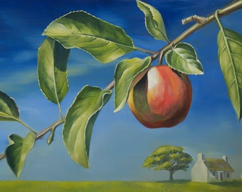 Apple tree branch.