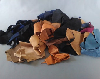 Lot of falls of lambskin for small objects in leather or decoration