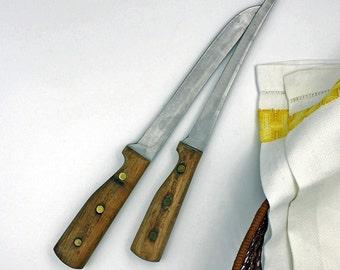 Vintage Utensils,Chicago Cutlery,knives,Cutlery,Wood Handle Knives,Vintage Knives,Utensils,Kitchen Knives