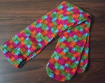 Crocheted super warm scarf