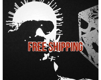 "Pinhead Vinyl Decal - white 7""x6"" --- FREE SHIPPING in the U.S."