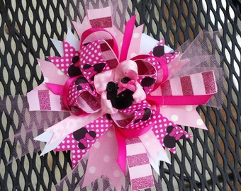 Minnie mouse boutique hair bow