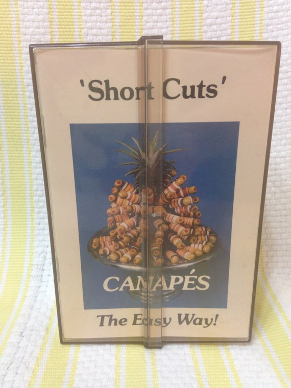 Short cuts canap s the easy way vintage canap maker for Canape maker