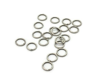 8mm Antique Silver Jump Rings / 8mm Jump Rings / Set of TWENTY