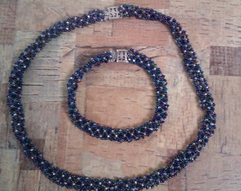 micro bead necklace and bracelet