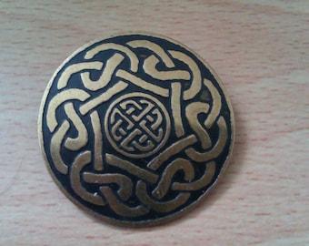 vintage Celtic knot brooch