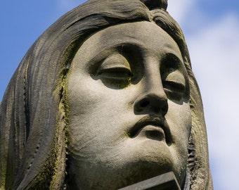 Glasgow Necropolis Graveyard Art, Blue sky, Home Decor, Cafe Art,Pub Art