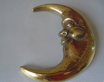 brass half moon decorative plaque
