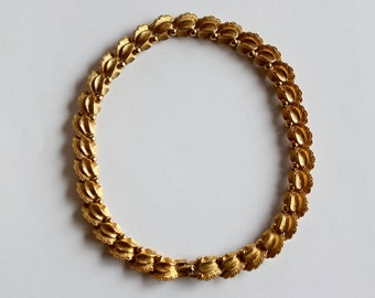Orlan Gold tone Choker necklace