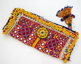 Vintage afghan Kuchi purse, tribal gypsy wallet, boho embroidered purse