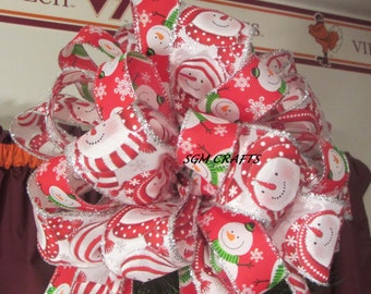snowman christmas tree topper – Etsy