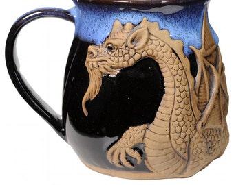 3-D Fantasy Winged Dragon Mug