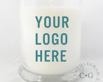 Soy Candle, CandleGram 10oz ... Your own Logo, Photo or Design