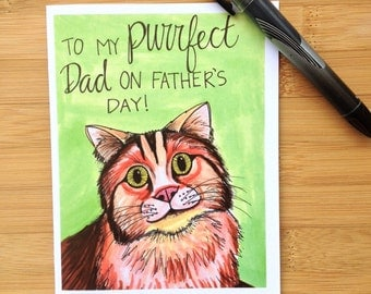 Father's Day Card From the Cat