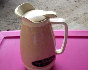 Mid century modern pink thermos pitcher