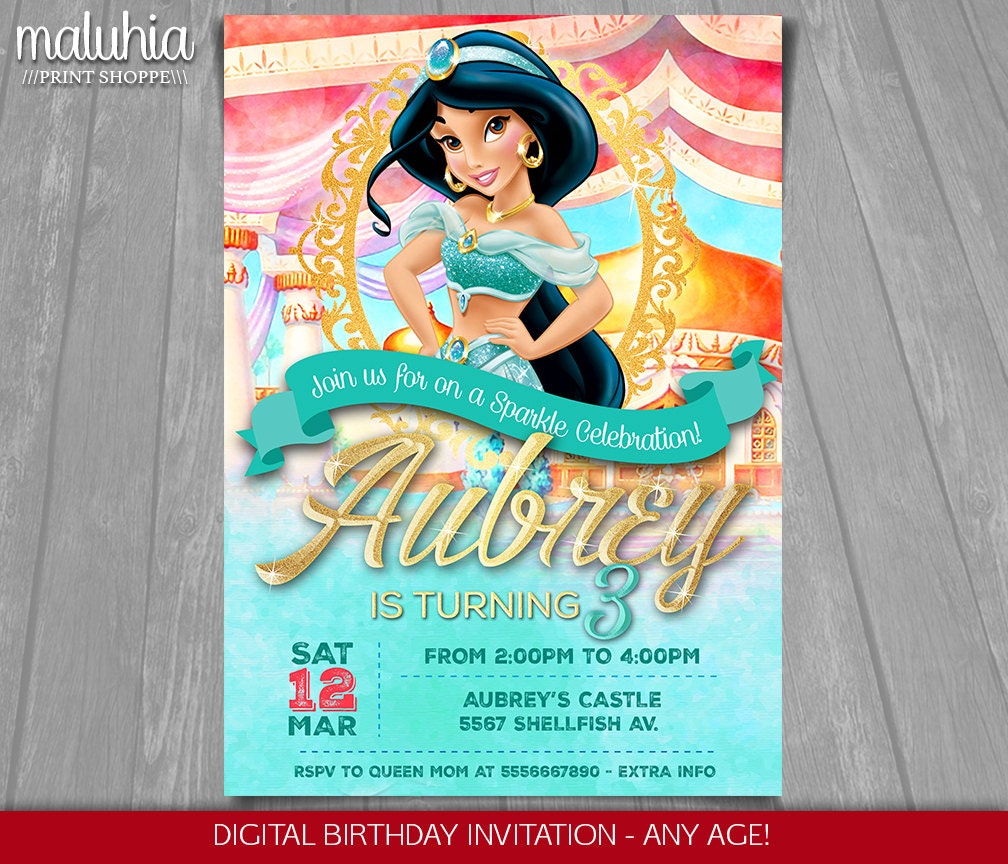 Disney Princess Party Invitations as adorable invitations design