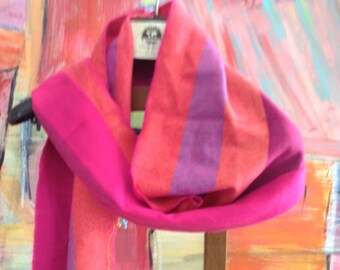 Cashmere feel scarf in bright colours