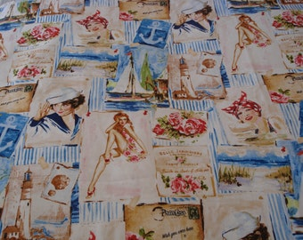 fabric girls pin-up
