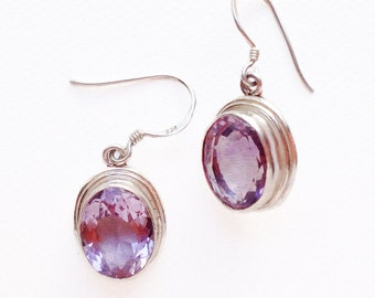 925 sterling silver & Amethyst earrings
