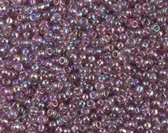 11/0 Tr Smoky Amethyst AB  #256  Miyuki Seed Beads - 10 grams
