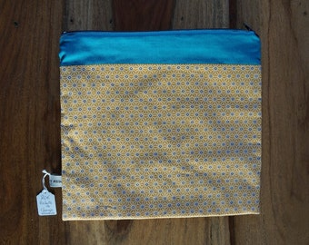 Toiletry, Nomad pouch for the graphic printed Exchange mustard and blue duck, birth gift, mother's day