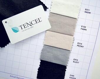 Tencel cotton jersey fabric, knit tencel fabric, tshirt fabric, featherweight knit fabric, pastel knit fabric, organic fabric shop ec 0187