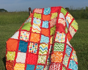 Handmade Gender Neutral Baby Rag Quilt