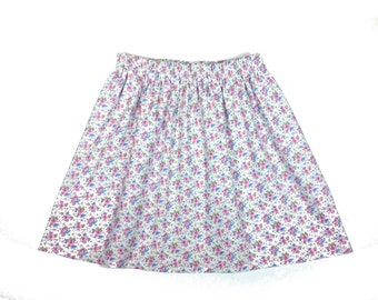Wildflowers 100% cotton, girl's, country, floral, elastic waist skirt in sizes 3T-12