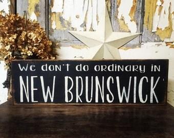 NEW BRUNSWICK rustic sign * rustic province sign * New Brunswick Decor * Prim Pickins