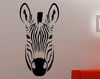 Zebra Wall Decal African Animal Sticker Horse Decorations Home Living Room Bedroom Decor Vinyl Wall Art Removable Sticker 5eldpa
