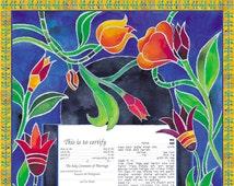 Ketubah Jewish wedding ceremony Ketubah design Jewish wedding ketubah Judaica Custom ketubah Jewish ketubah Wedding ketubah