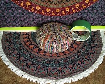 Mandala roundy w/ fringe