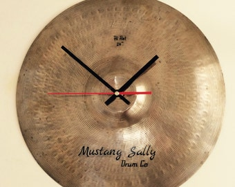 Cymbal Clock - drummer's gift