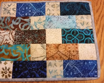 Small Batik Candle Mat or Table Runner