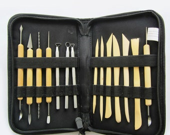 14 Pcs Clay Sculpting Wax Carving Pottery Tools Polymer Ceramic Modeling Kit