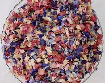 Biodegradable confetti, dried natural petals, HAPPY BLEND