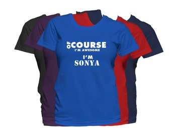 SONYA Womens First Name T Shirt First Name Family Name Custom Personalized Name T-Shirt