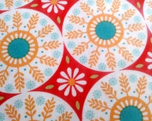 Empire Medallion Fabric, Red, Harvest, Fabric for pillow covers, table runner, etc. Ardently Austen by Riley Blake, by the yard, half yard