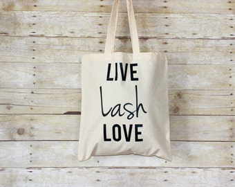 Live Lash Love Canvas Tote