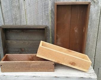 Rustic Wood Box Centerpieces Decor