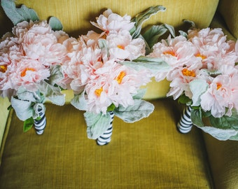 Pale Pink & Lambs Ear Bridesmaid Bouquets (Set of 3)