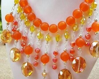 Tangerine Dream Statement Necklace