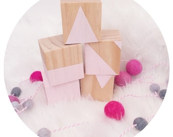 Wooden decor building blocks