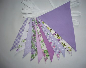 "3 Metres Quality Double Sided Bunting ""Lilac Heaven"""