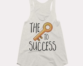 The Key to Success Racerback