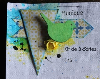 3 cards of your choice kit (10X15cm)